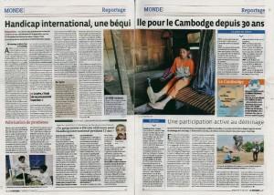 article presse le progres handicap international 30 ans
