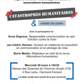 Table ronde « Catastrophes humanitaires et communication »